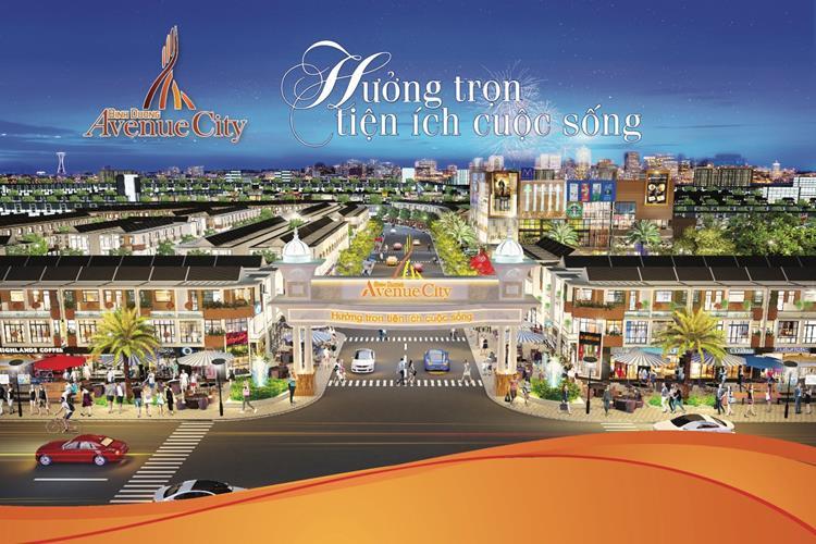 Cổng chính dự án Bình Dương Avenue City Bến Cát