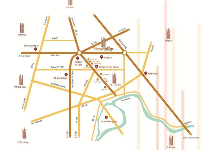 Vị trí dự án Khu đô thị Victory City