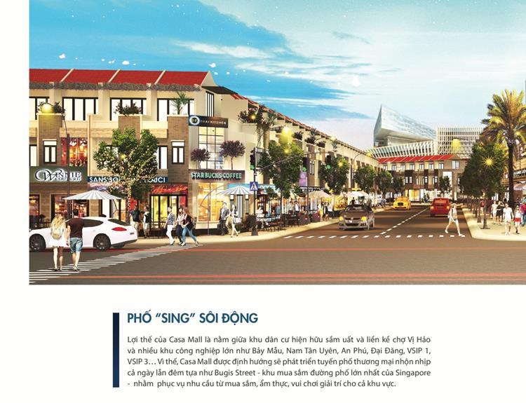 Tiện ích dự án Casa Mall Bình Dương