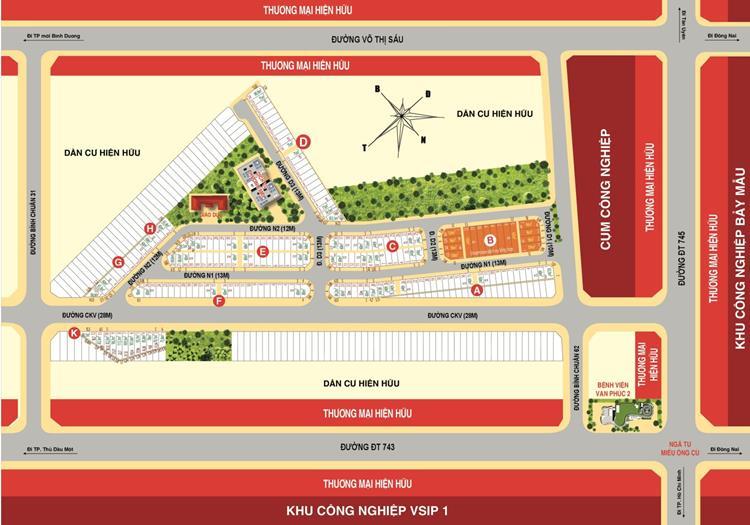 Mặt bằng phân lô dự án Casa Mall