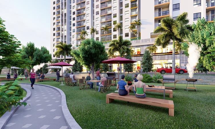 Phối cảnh công viên của dự án căn hộ Legend Complex