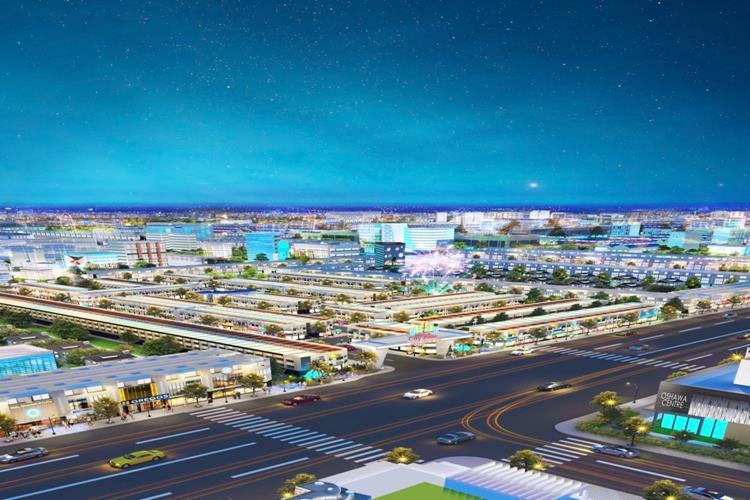 Phối cảnh trục chính dự án City Zone tại Bến Cát