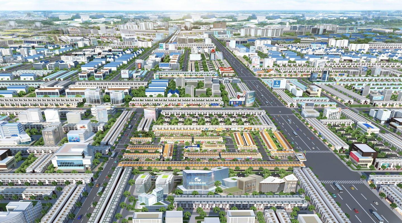 Phối cảnh dự án Phố Thương Mại City Zone tại Bến Cát